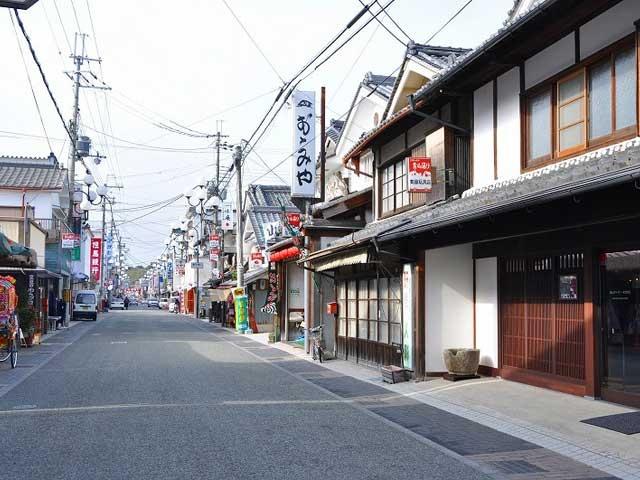 篠山城下の町並み