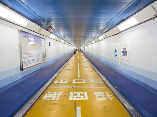 関門海底国道トンネル人道