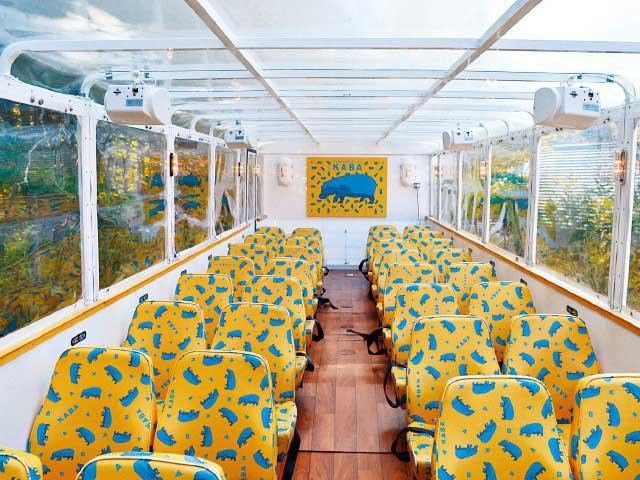 水陸両用バス「YAMANAKAKO NO KABA」