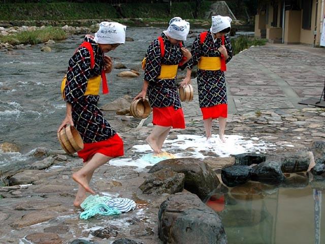 奥津温泉足踏み洗濯