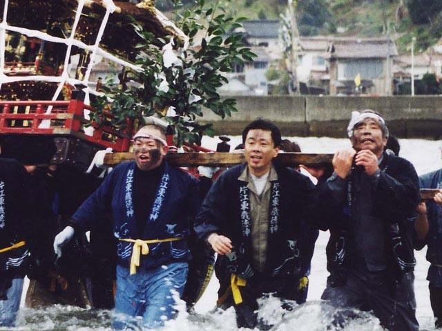 片江墨つけトンド祭り