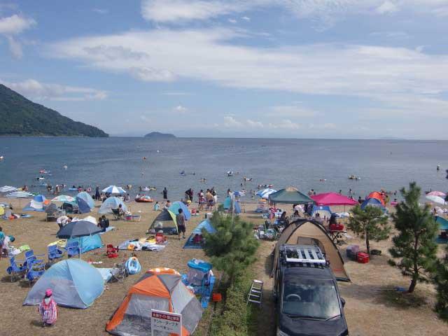 マキノサニービーチ高木浜 オートキャンプ場