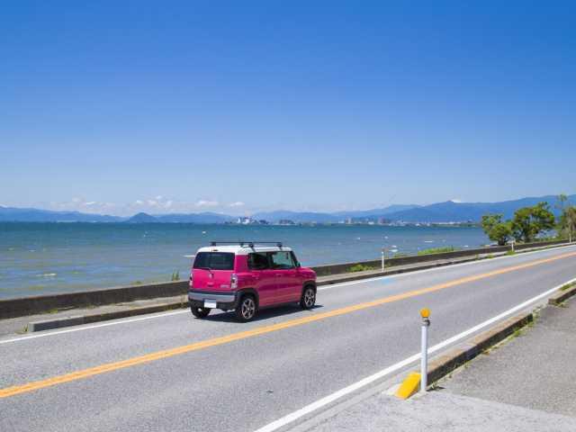 湖周道路(さざなみ街道)