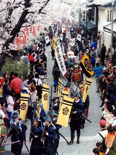 城下町小幡さくら祭り「武者行列」