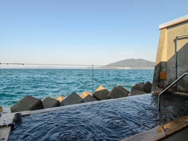 海上露天風呂 波の湯「茜」