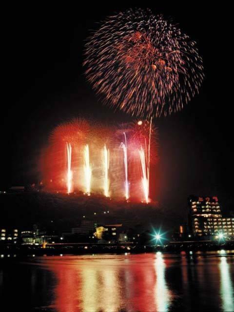 戸倉上山田温泉夏祭りと大煙火大会