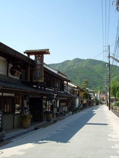 旧北国街道 柳町の通り