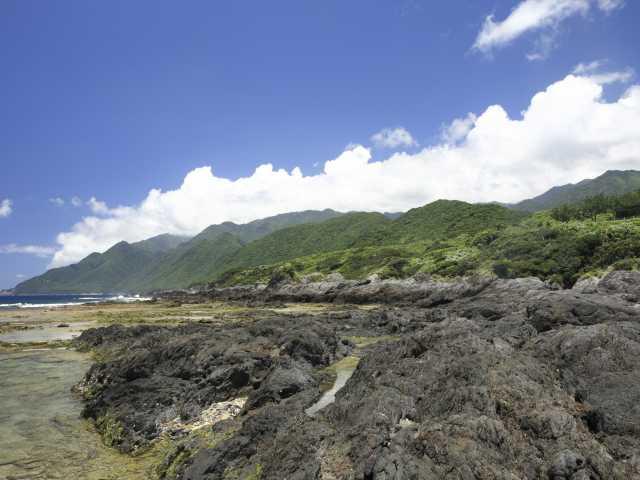 屋久島町の枕状溶岩
