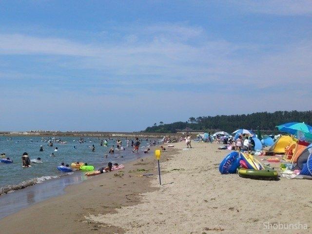 まっすぐな白砂青松 西浜海水浴場(山形県)