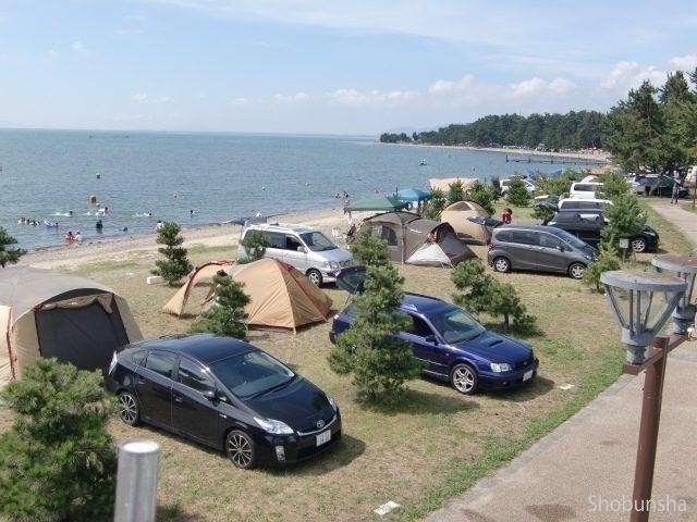 オートキャンプも マキノサニービーチ高木浜(滋賀県)