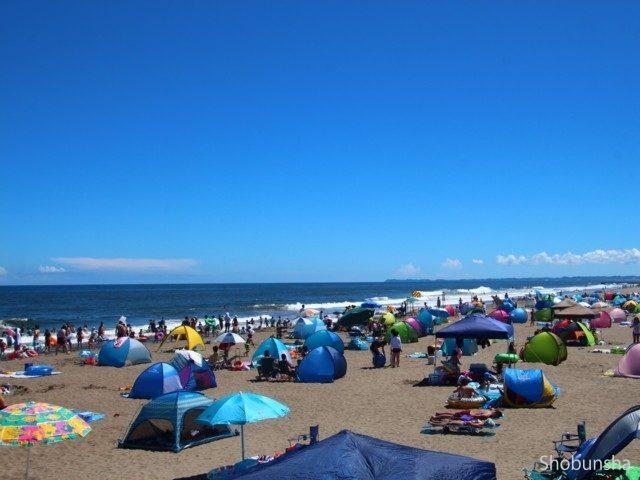 九十九里浜の真ん中 白里海水浴場(千葉県)