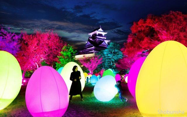 チームラボ 高知城 光の祭 2019-2020【高知県】